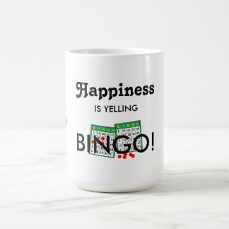 幸福はビンゴのおもしろいを叫んでいます! ビンゴのペアカップ コーヒーマグカップ