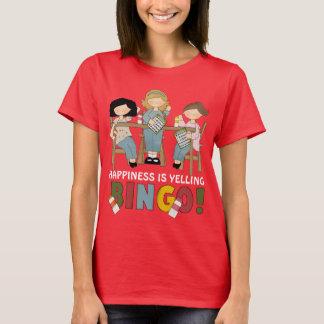 幸福はビンゴの女性のTシャツを叫んでいます Tシャツ