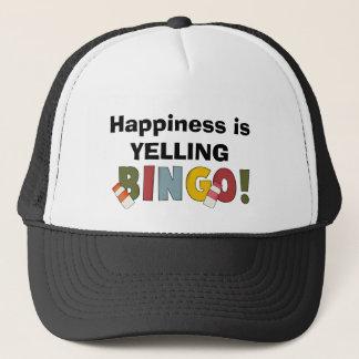 幸福はビンゴの帽子を叫んでいます キャップ