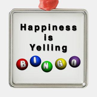 幸福はビンゴを叫んでいます メタルオーナメント