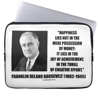 幸福は喜び達成のクリエイティブの努力のあります ラップトップスリーブ