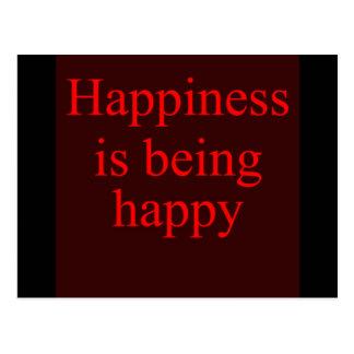 幸福は幸せです ポストカード