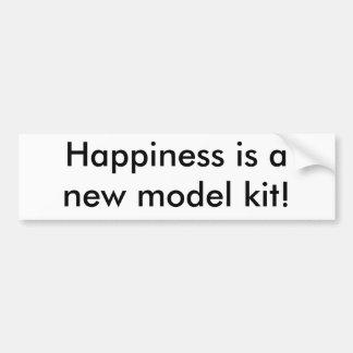 幸福は新しいモデルのキットです! バンパーステッカー