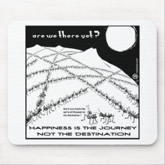 幸福は旅行ない行先です マウスパッド