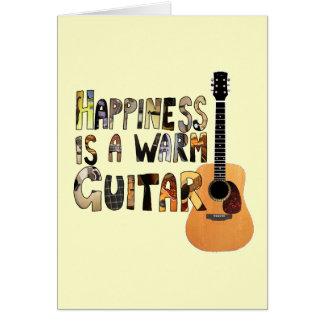幸福は暖かいギターです グリーティングカード