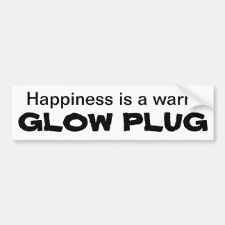 幸福は暖かいグロー・プラグです バンパーステッカー