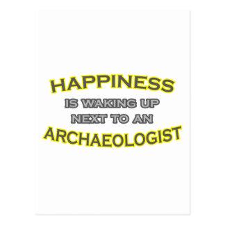 幸福は目覚めています。 考古学者 ポストカード