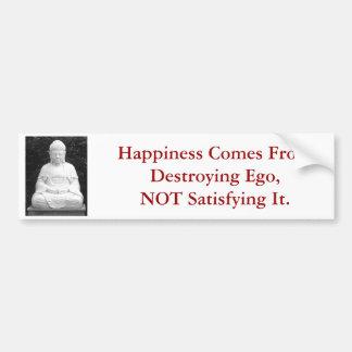 幸福は破壊の自我から…来ます バンパーステッカー