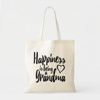 幸福は祖母のハートです トートバッグ