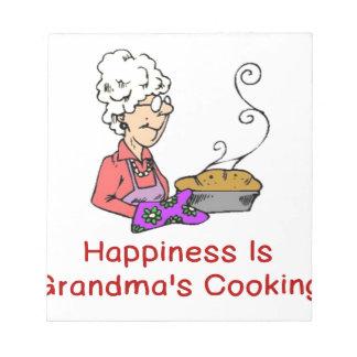 幸福は祖母の料理です ノートパッド