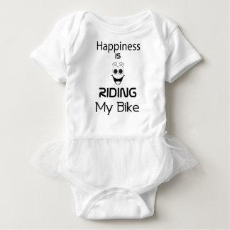 幸福は私のバイクに乗っています ベビーボディスーツ