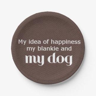 幸福は私の犬です ペーパープレート