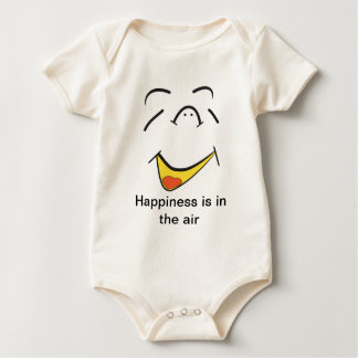 幸福は空気にあります ベビーボディスーツ