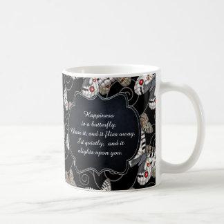幸福は蝶です: アポロ蝶 コーヒーマグカップ