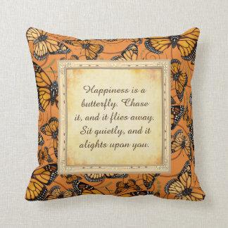 幸福は蝶です: マダラチョウ クッション