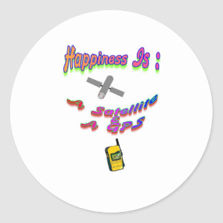 幸福は衛星及びGPSです ラウンドシール