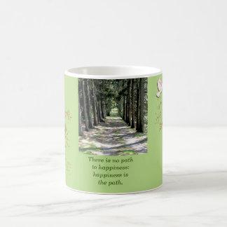 幸福は道です。 仏の引用文-コーヒー・マグ コーヒーマグカップ