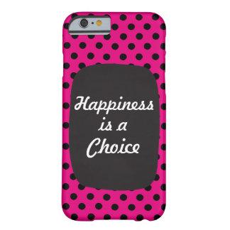 幸福は選択カスタマイズあなたの文字をです BARELY THERE iPhone 6 ケース