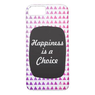 幸福は選択カスタマイズあなたの文字をです iPhone 8/7ケース