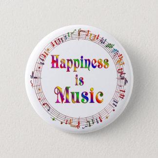 幸福は音楽です 5.7CM 丸型バッジ