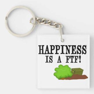 幸福はFTF Geocachingのkeychainです キーホルダー