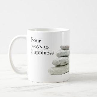 幸福への4つの方法 コーヒーマグカップ