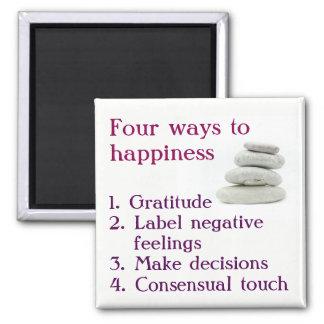 幸福への4つの方法 マグネット