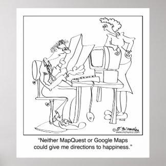 幸福へのMapquestの方向 ポスター