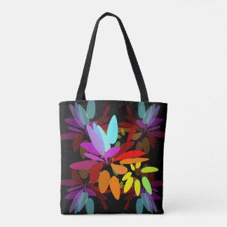 幸福感にあふれた抽象的な虹の色刷 トートバッグ