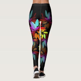 幸福感にあふれたModerのヒッピーの虹の花びら レギンス