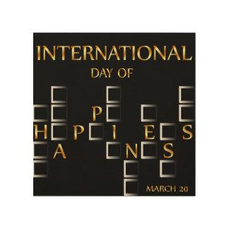 幸福記念する日の3月20日のカードの日 ウッドウォールアート