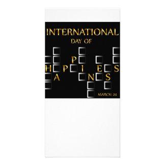幸福記念する日の3月20日のカードの日 カード