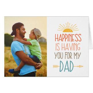 幸福 の写真の父の日 グリーティングカード