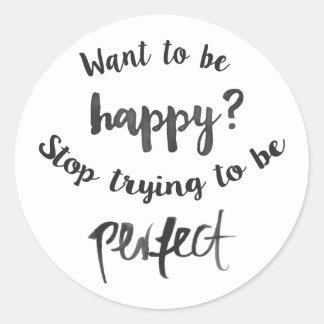 幸福、自己自信、生命態度 ラウンドシール