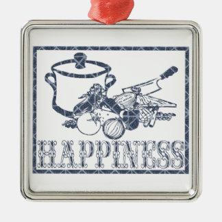 幸福: 調理 メタルオーナメント