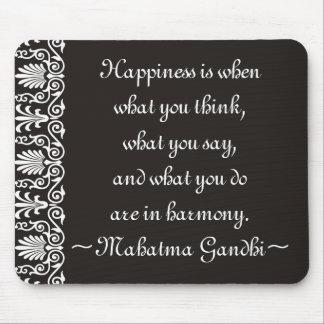 幸福Gandhiはマウスパッドを引用します マウスパッド