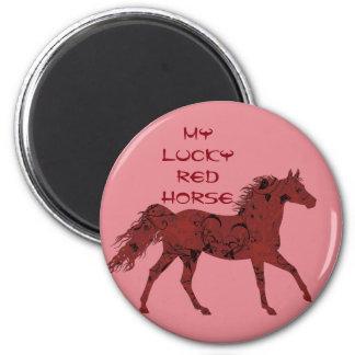 幸運で赤い馬|の磁石 マグネット