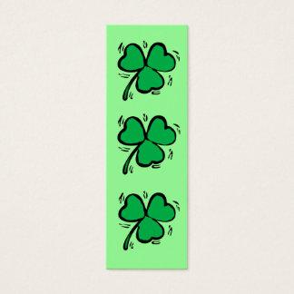幸運なアイルランドのしおり スキニー名刺