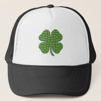 幸運なアイルランドのクローバーのトラック運転手の帽子 キャップ