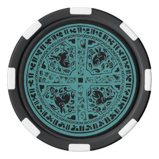 幸運なアイルランドのポーカー用のチップの複雑なケルト結び目模様のノウサギ ポーカーチップ
