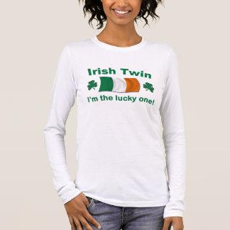 幸運なアイルランドの双生児 長袖Tシャツ