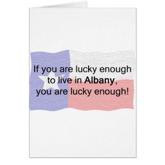 幸運なアルバニー カード
