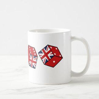 幸運なイギリスのサイコロの記念品のマグ コーヒーマグカップ
