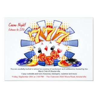 幸運なカジノ夜招待状 カード