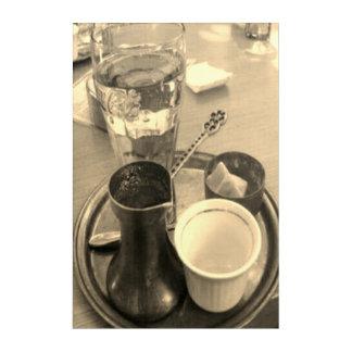 幸運なカルマによって芸術のアラビア伝統的なコーヒーを囲んで下さい アクリルウォールアート