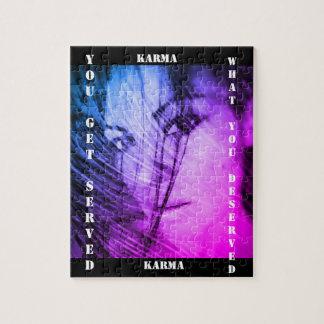 幸運なカルマによるギフト用の箱が付いているパズル ジグソーパズル