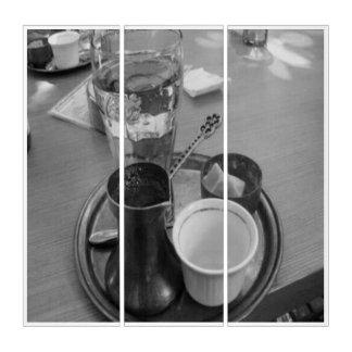 幸運なカルマによるコーヒーの店のトリプティク トリプティカ