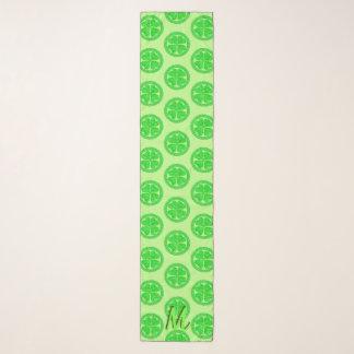 幸運なケルト族のシャムロック4の葉のクローバーのモノグラム スカーフ