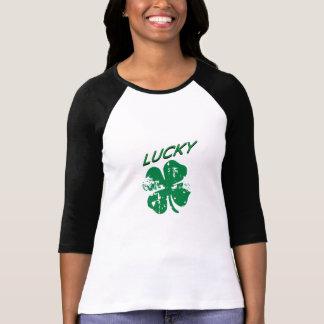 幸運なシャムロックの女性のワイシャツ Tシャツ