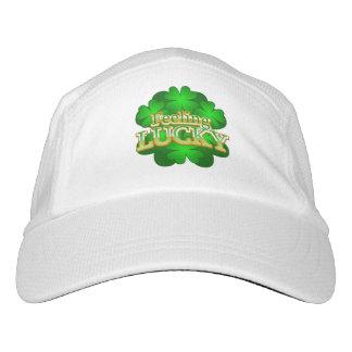 幸運なシャムロックの帽子を感じること ヘッドスウェットハット